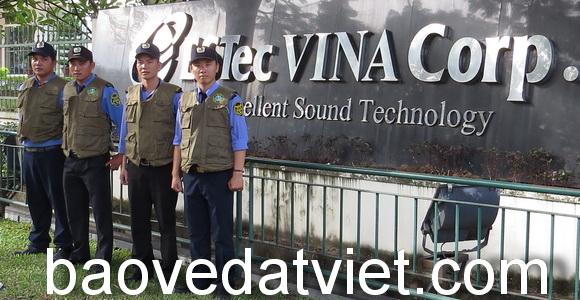 Công ty bảo vệ Đất Việt cung cấp dịch vụ bảo vệ nhà máy
